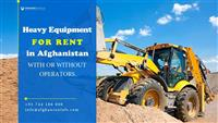 Rent heavy equipment with or without operators