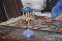 شمع دانی ساخته شده از سنگ های قیمتی