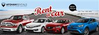 Rent a Car in Afghanistan at Best Price