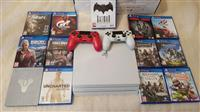 PS4 PRO 1TB console with 2controllers and 13 games