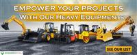 Empower your Projects with our Heavy Equipment