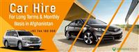Car Hire for Long Terms & Monthly Basis in Afghana